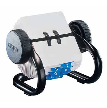 Rolodex voor fiches